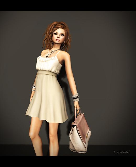{Sprite} - Inspire Dress (Mesh) - XS - Sand/Khaki