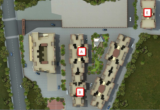 Layout Plan of  Windsor County, 1 BHK 2 BHK & 3 BHK Flats near Reelicon Garden Grove, Datta Nagar, Ambegaon Budruk, Pune 411046