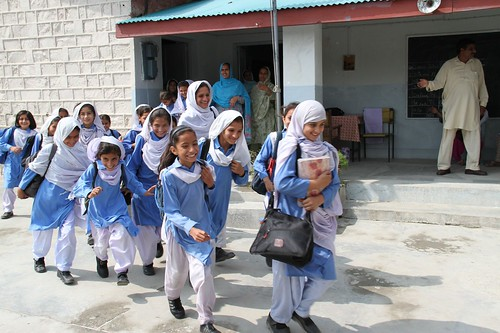 Girls in playground, Abbottabad, Pakistan, 15 September 2011