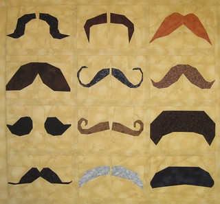 Mustachio! 12 Mustaches to Paper Piece