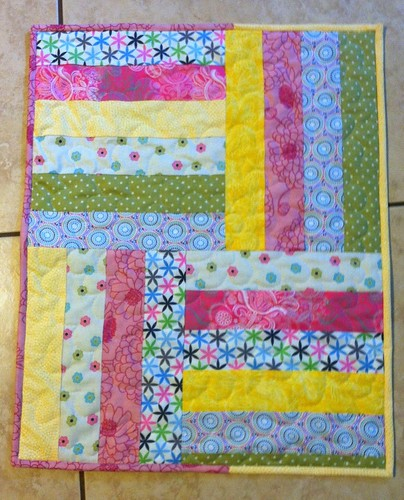 Baby doll quilt for Hannah.