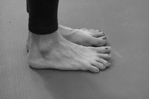 Tadasana feet