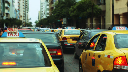travel red car photo colorful traffic image taxi images best explore photograph guayaquil ec masterphotos