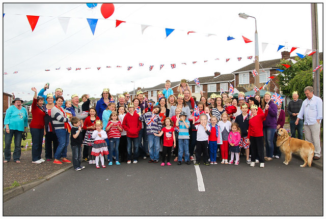 Diamond Jubilee Street Party, Larksfield Crescent, Dovercourt.