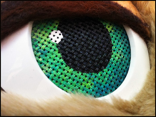 how to make follow me eyes for a stuffed animal