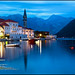 Perast - Twilight over St. Nicholas Church and the Bay of Kotor