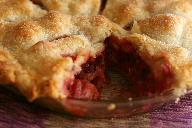 strawberry rhubarb pie 6