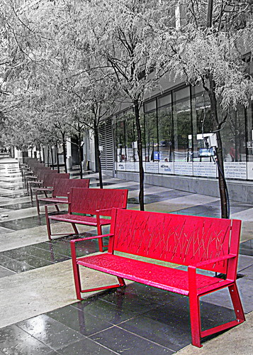 06-18-12 Red Benches by roswellsgirl