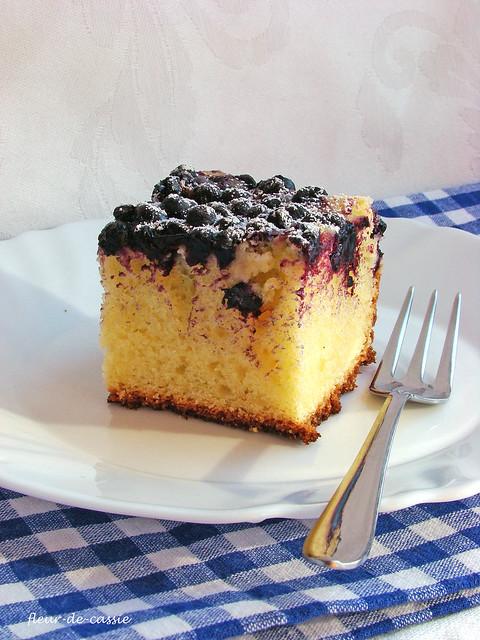 лимонный пирог с черникой 2