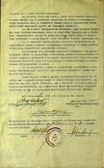 """04. A Debreceni Status Quo Ante Hitközség által alapított """"Lukács Frigyes emlékalapítvány"""" alapítólevele, valamint a..."""