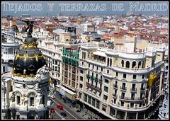 Tejados y terrazas de Madrid
