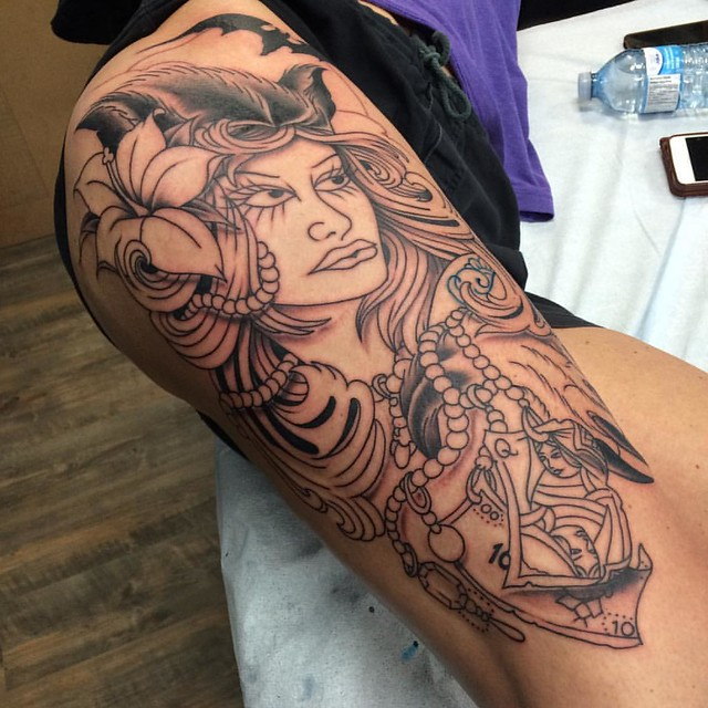 Got a start on this one yesterday #okanagantattoos #okanagantattoo #penticton #pentictontattoos #kvtcrew #kettlevalleytattoocompany