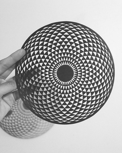Op Art Circular Paper Cutting by Crissy Tioseco