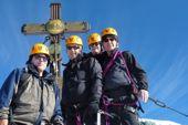 Besteigung Großglockner mit Bergführer. Am Gipfel, 3798 m. Foto: Archiv Härter.