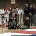 rachel & her boys watching the karate demonstration    MG 0495