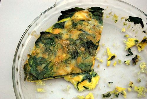 Thinny Thin Spinach Cheddar Frittata