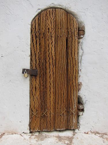 door made of cactus wood