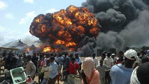 A US Drone attack in Somalia kills 18 people. The deadly weapon has killed hundreds over the last few months. by Pan-African News Wire File Photos