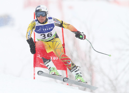 Kirk Schornstein in action in the super-G portion of an IPC World Cup super combined in Panorama, B.C.