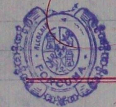 """Sello de la Alcadía de Porcuna, donde se ha decapitado la corona monárquica, y ha desaparecido """"constitucional"""""""