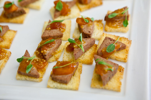 Foie de Canard on brioche with kumquat jam
