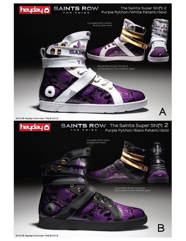 Vote for the Next Heyday x Saints Row Super Shift Sneaker Design