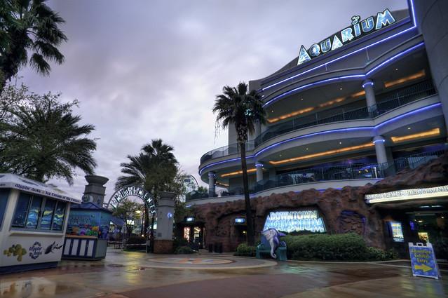 The Downtown Aquarium Houston Blue Hour HDR