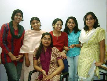 Shradhanjali, Susmita, Sanjukta, Piyali & Satarupa (Sitting) Devapriya