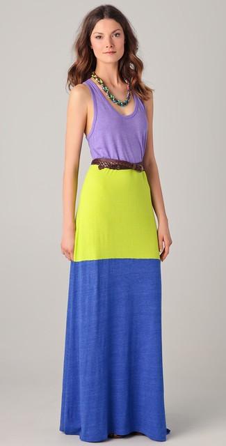 Colorblock Maxi Tank Dress