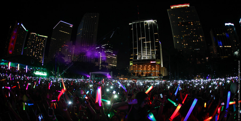 95. Lights everywhere at the amazing Miami skyline at Ultra Music Festival 2012