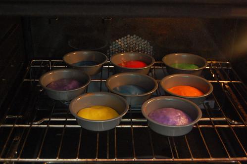 Rainbow Cakes Baking