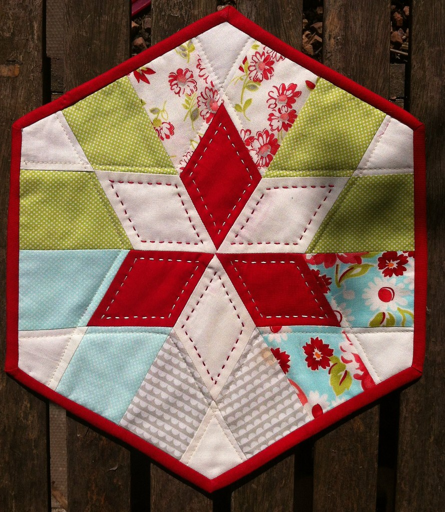 Mini quilt made with Hopscotch offcuts