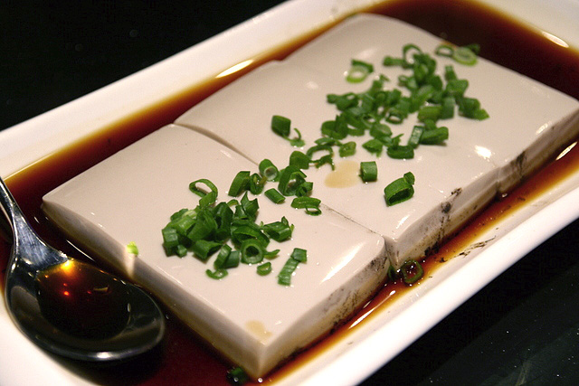 Steamed Lingzhi Tofu in Supreme Soya Sauce