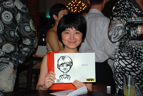 caricature live sketching for DVB Christmas party - 17