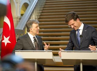 Persconferentie minister-president Rutte en president Gül