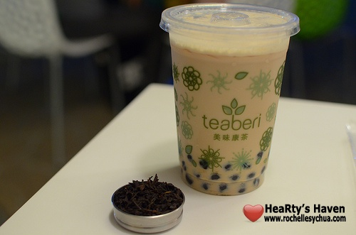 teaberi roast sencha milk tea