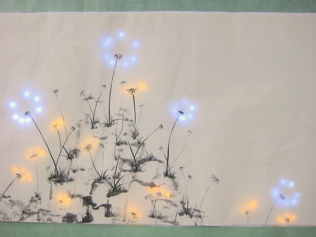 Pu Gong Ying Tu Dandelion Painting Jie Qi