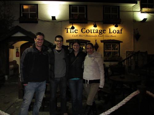 Outside the Cottage Loaf pub