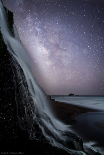 ocean night waterfall milkyway pointreyesnationalseashore alamerefalls earthandspace astro:subject=milkyway competition:astrophoto=2012 astro:gmt=20120428t1137