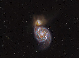 The Whirlpool Galaxy M51 LRGB