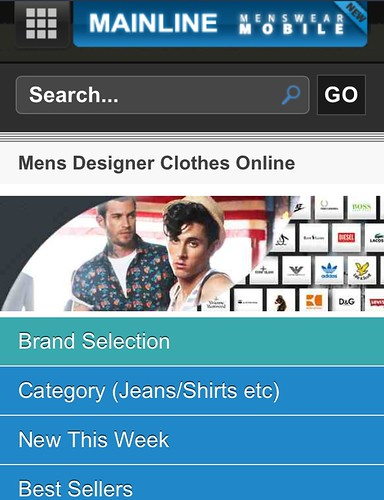 Mainline Menswear Mobile Site