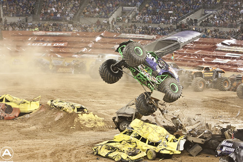 Grave Digger Destroying the RV