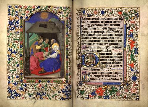 009-Adoracion de los Reyes Magos-Fol. 71 verso-Heures d'Isabeau de Roubaix- Bibliothèque numérique de Roubaix  MS 6