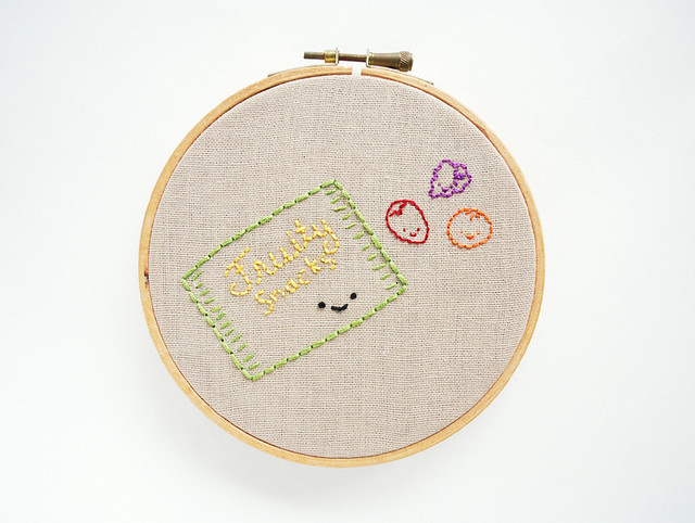 Snack Time Embroidery