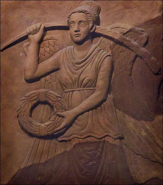 Roman stone carving winged goddess flickr photo sharing