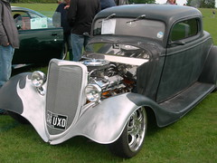 automobile, automotive exterior, vehicle, automotive design, hot rod, antique car, sedan, ford model b, model 18, & model 40, vintage car, land vehicle, luxury vehicle, motor vehicle,