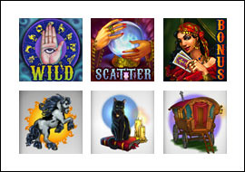 free Fortune Teller slot game symbols