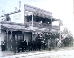 Old Spot and Coach Ca. 1897 - 1907