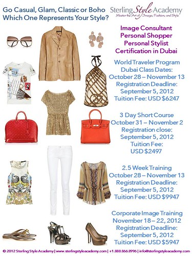 Dubai Image Consultant, Personal Stylist & Personal Shopper Training Sterling Style Academy 2012 Update