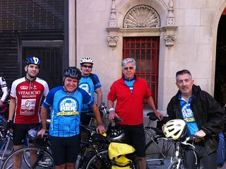 The CCAN riding team: Jay, Dave, Ted, Denny and Mike. Real climate heroes. 300 miles!